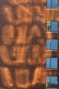 """Brick Facade With Reflections"" by Bruce Berkow"