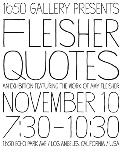Amy Fleisher Quotes Art Exhibition