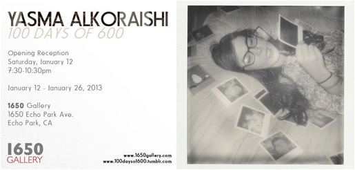 100 Days of 600 Yasma Alkoraishi Photography Exhibition