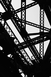 """Third Street Bridge"" by Forrest Bryant - Urban Landscapes Photography 2015 Exhibition 1650 Gallery"