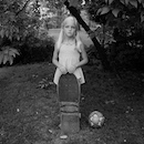 """ABBY with Skateboard 2"" by Donna Pinckley"