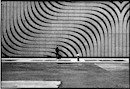 """Man with curved lines wall -Lower Manhattan"" by Len Speier"
