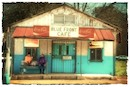 """Blue Front Cafe"" by Norma Woodward"""
