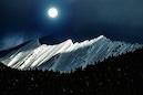 """Rocky Mountain Glory in Moonlight"" by Elaine Hunter"