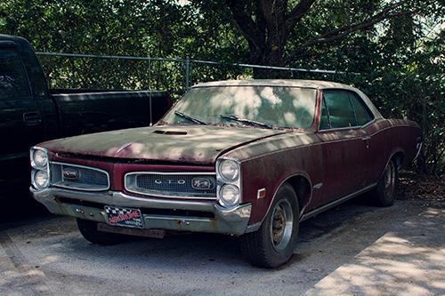 """Stranded 1967 Pontiac GTO"" by Alexandra Jane Gagnon - Planes, Trains & Automobiles Photography 2017 Exhibition 1650 Gallery"